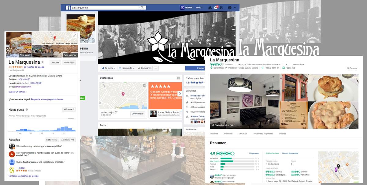 Redes sociales La Marquesina